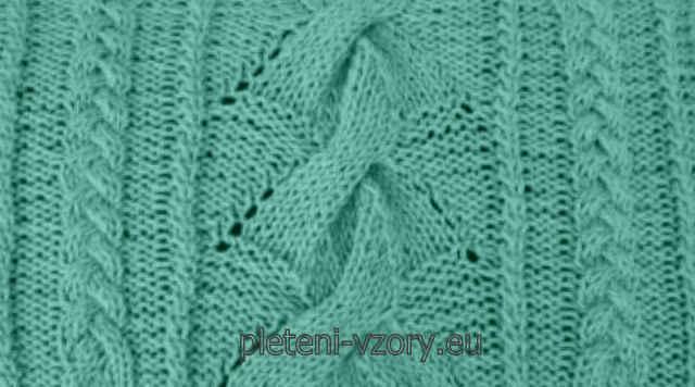 Vzor č. 110 – Kaleidoskop vzorů pro ruční pletení 60545a31a8