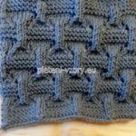ukázka pleteniny před vypnutím