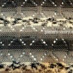 ukázka pletená pruhující přízí